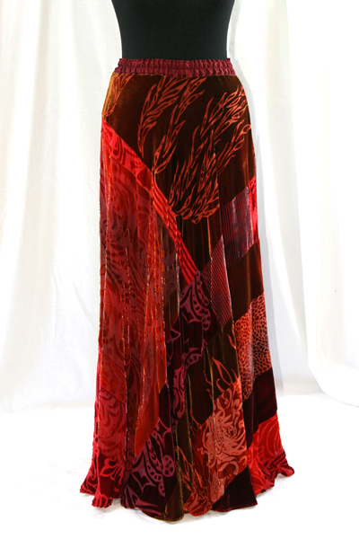 Valentine's Day velvet evening skirt