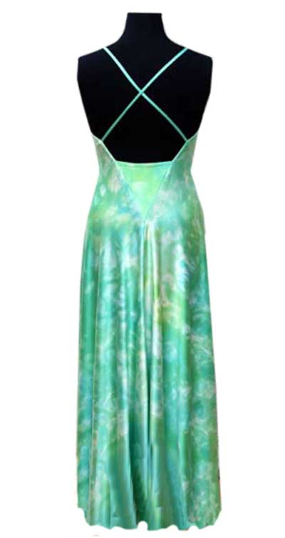 Pure silk evening gown for summer parties