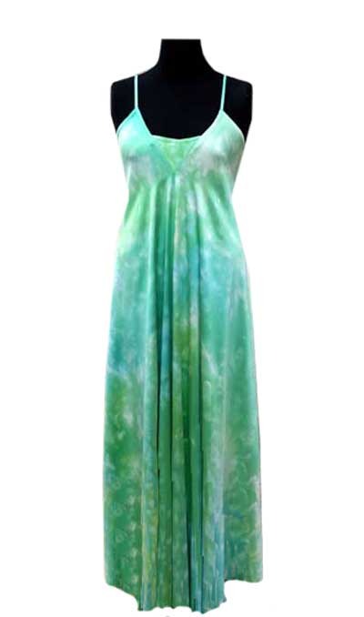 Handmarbled silk evening dress