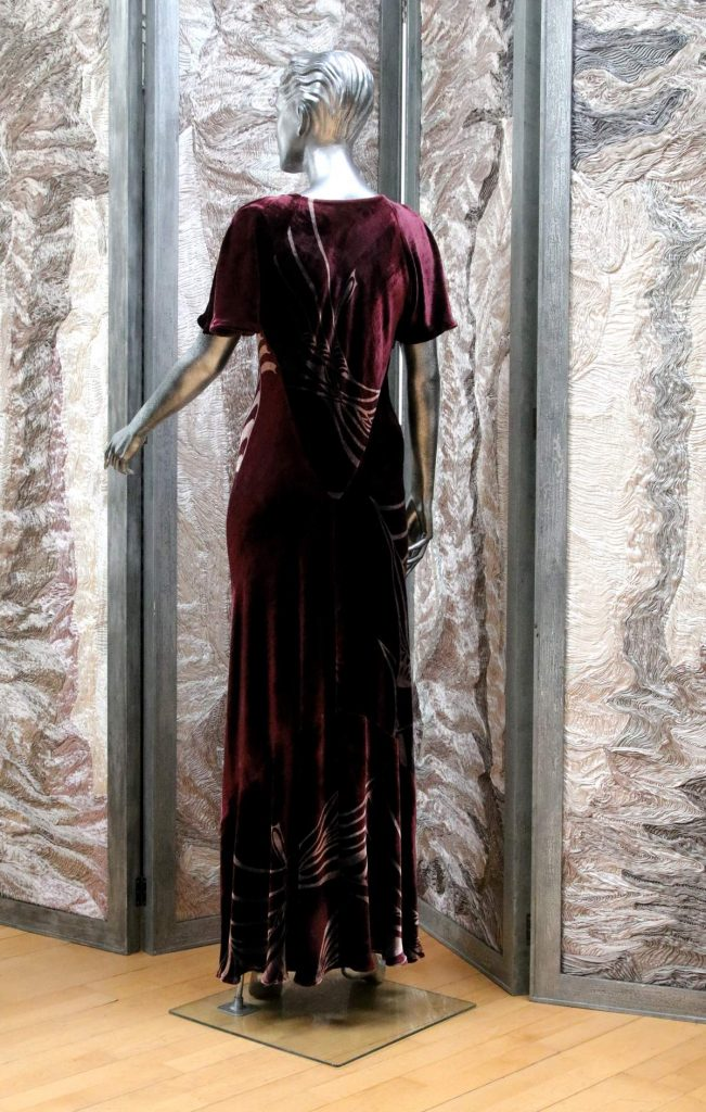 2689 bias dress luxury velvet 02w