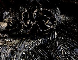black pleated beaded 2