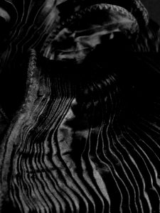 black pleated close up